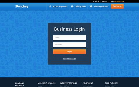 Screenshot of Login Page punchey.com captured Sept. 11, 2014