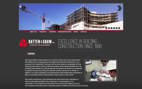 Screenshot of Jobs Page bsinet.us - Careers | Batten and Shaw - captured Oct. 5, 2014