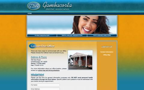 Screenshot of Contact Page Maps & Directions Page gdawny.com - Contact Us Cheektowaga NY - captured Oct. 23, 2014