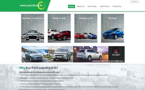 Screenshot of Home Page autodirect.lk - Autodirect.lk   Home - captured Sept. 23, 2014