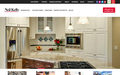 Screenshot of Home Page neilkelly.com - Neil Kelly | Portland & Seattle Remodeling, Renovations, Home Builders - captured Sept. 19, 2014