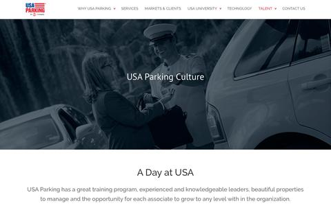 Screenshot of Team Page usaparking.net - Our People | USA Parking | Valet, Self, Concierge, Bellman, Doorman - captured Feb. 14, 2016