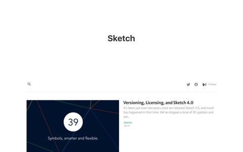 Screenshot of Blog sketchapp.com - Sketch Stories - captured Aug. 6, 2016