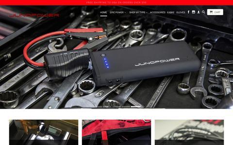 Screenshot of Home Page junopower.com - External iPhone Batteries External portable Android batteries - captured July 2, 2017