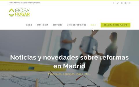 Screenshot of Blog easyhogar.es - Noticias sobre reformas en Madrid - captured July 15, 2018