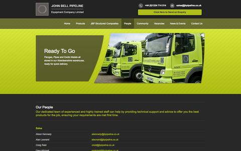 Screenshot of Team Page jbpipeline.co.uk - Meet our People | John Bell Pipeline Aberdeen & Scotland - captured Oct. 6, 2014