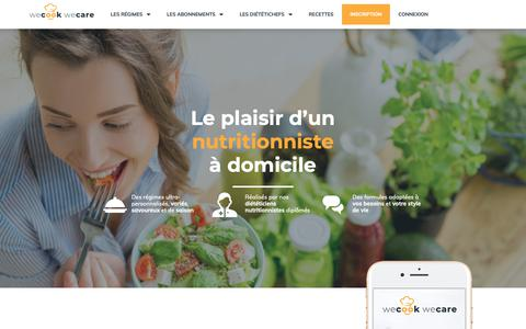 Screenshot of Home Page wecook.fr - Accueil - WeCook We Care - captured Nov. 8, 2018