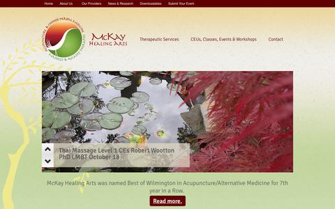 Screenshot of Home Page mckayacupuncture.com - Mckay Healing Arts - McKay Healing Arts has more choices for creating a healthier you. - captured Oct. 6, 2014