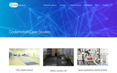 Screenshot of Case Studies Page codamotion.com - Codamotion Case Studies - Codamotion - captured July 19, 2018
