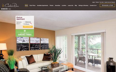 Screenshot of Home Page cedarrimapts.com - Cedar Rim Apartments in Newcastle, WA | Home - captured Jan. 26, 2016