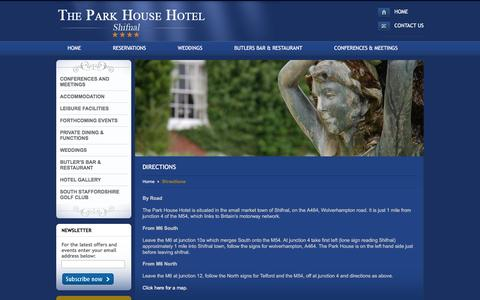 Screenshot of Maps & Directions Page parkhousehotel.net - Directions - captured Feb. 8, 2016