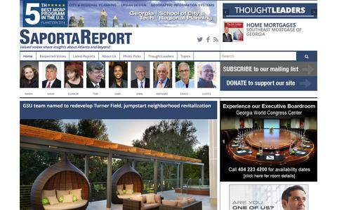 Screenshot of Home Page saportareport.com - SaportaReport - Valued Voices Share Insights About Atlanta - captured Dec. 21, 2015
