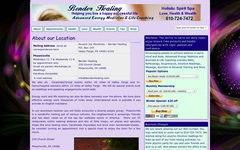 Screenshot of Maps & Directions Page benderhealing.com - About our Location|Bender Healing - captured Oct. 23, 2014