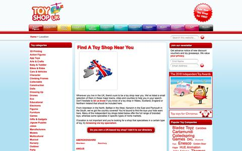 Screenshot of Locations Page toyshopuk.co.uk - Toy Shops in Wales, Scotland, Northern Ireland and England - Toy Shop UK - captured Sept. 27, 2018