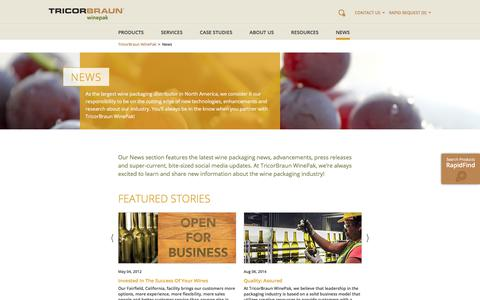 Screenshot of Press Page tricorbraun.com - Wine Packaging News | TricorBraun WinePak - captured Jan. 7, 2020