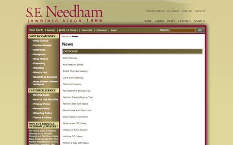 Screenshot of Press Page seneedham.com - News - captured Oct. 3, 2014