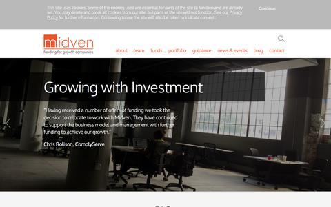 Screenshot of FAQ Page midven.co.uk - FAQs | Midven - captured Aug. 11, 2016