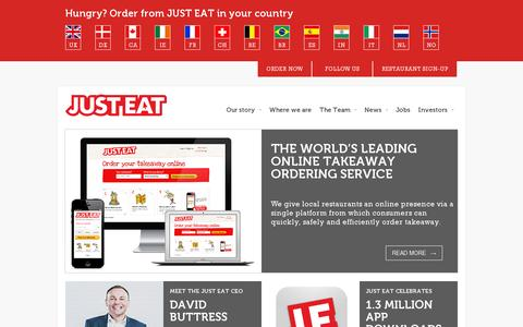 Screenshot of Home Page just-eat.com - Just-Eat.com - captured July 11, 2014