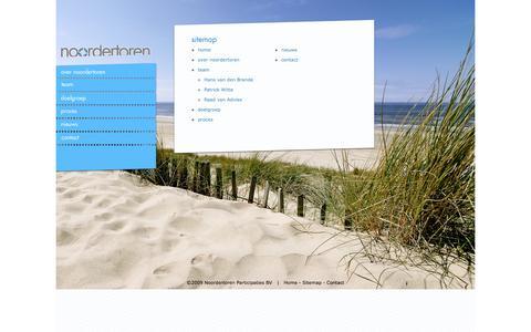 Screenshot of Site Map Page noordertoren.nl - noordertoren - captured Oct. 26, 2014