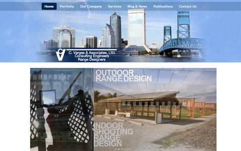 Screenshot of Home Page cvaltd.com - C. Vargas & Associates, LTD. - Consulting Engineers | Jacksonville, Florida - captured Oct. 1, 2014
