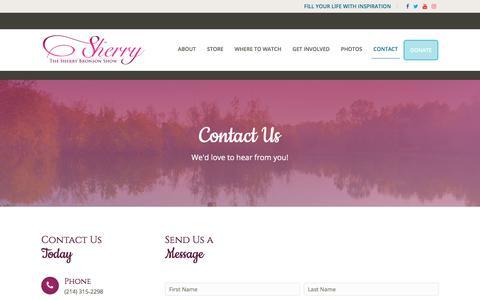 Screenshot of Contact Page sherrybronson.com - Contact - SherryBronson.com - captured Oct. 11, 2017