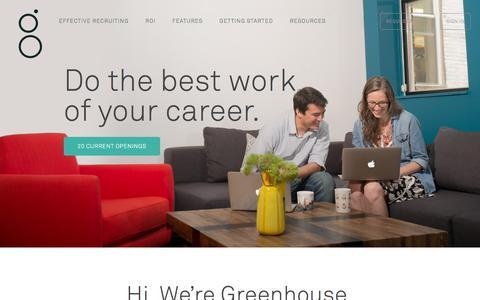 Screenshot of Jobs Page greenhouse.io - Careers - captured Nov. 6, 2015
