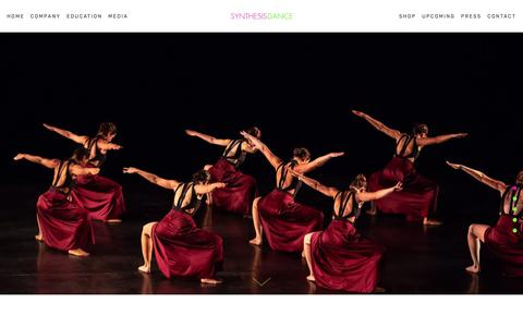Screenshot of Home Page synthesisdance.org - Synthesis Dance | Tracie Stanfield | Concert Modern Jazz Dance Company | New York City - captured May 29, 2019