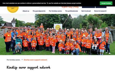 Screenshot of Signup Page grandparentsplus.org.uk - Grandparents Plus | Kinship carer support network - captured July 23, 2018