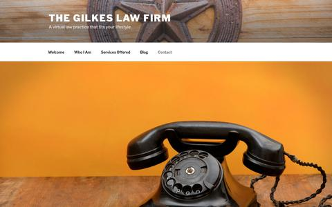 Screenshot of Contact Page gilkeslawfirm.com - Contact – The Gilkes Law Firm - captured Oct. 18, 2018
