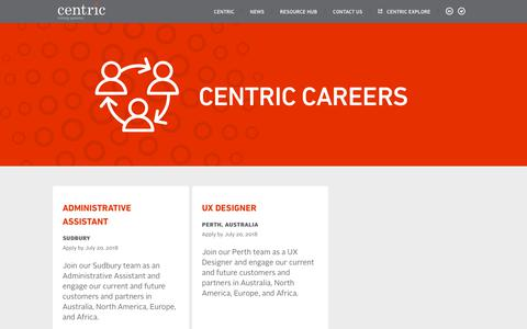 Screenshot of Jobs Page centricminingsystems.com - Careers - Centric Mining Systems - captured July 17, 2018
