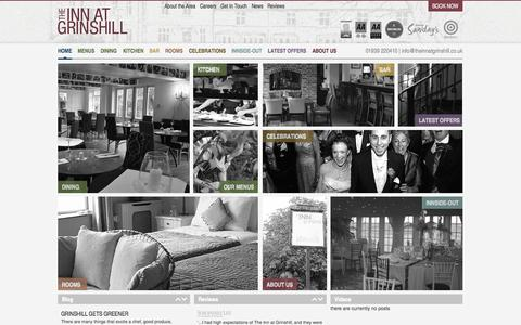 Screenshot of Home Page theinnatgrinshill.co.uk - The Inn at Grinshill | Restaurants & Hotels in Shrewsbury, Shropshire – The Inn at Grinshill - captured Oct. 10, 2014