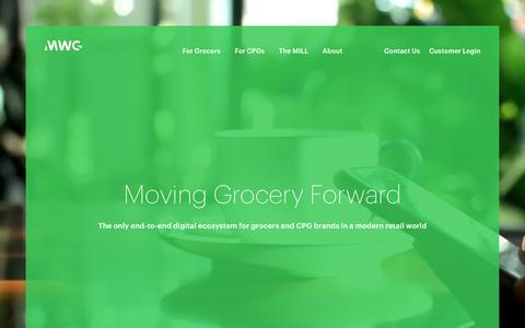 Screenshot of Home Page mywebgrocer.com - MWG - Moving Grocery Forward - captured Nov. 23, 2016