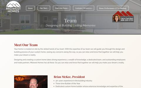 Screenshot of Team Page midwesthomesinc.com - Team | Midwest Homes Inc. - captured June 11, 2017