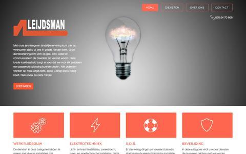 Screenshot of Home Page leijdsman.com - Home - Leijdsman - captured Nov. 30, 2018