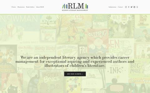 Screenshot of Home Page rodeenliterary.com - Rodeen Literary - captured Oct. 27, 2018
