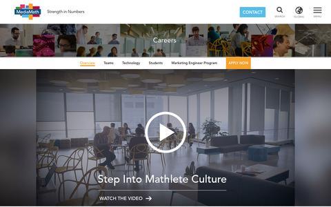 Screenshot of Jobs Page mediamath.com - Careers – MediaMath - captured March 24, 2016