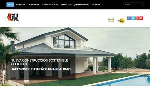 Screenshot of Home Page sate-vipal.com - Aislamiento tŽrmico y rehabilitaci—n de edificios y fachadas - captured Dec. 17, 2015