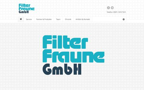Screenshot of Home Page filter-fraune.de - Filter Fraune GmbH in Lingen - Startseite - captured June 9, 2016