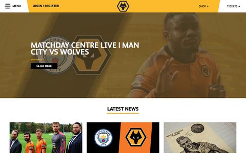 Screenshot of Home Page wolves.co.uk - Official Website of Wolves FC | Wolverhampton Wanderers FC - captured Oct. 25, 2017
