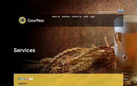 Screenshot of Services Page gourpass.es - GourPass - captured Sept. 30, 2014