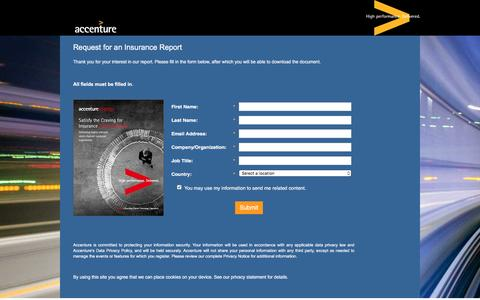 Screenshot of Landing Page accenture.com - Satisfy the Craving for Insurance Personalization - captured Oct. 29, 2016