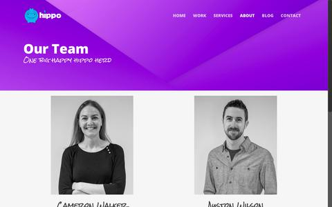 Screenshot of Team Page studiohippo.com - Our Team - Studio Hippo - captured Oct. 20, 2018
