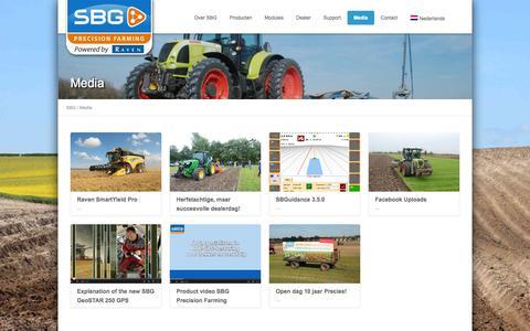 Screenshot of Press Page sbg.nl - SBG Media - SBG - captured Oct. 3, 2014