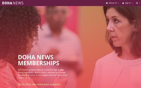 Screenshot of Signup Page dohanews.co - Doha News Memberships - captured June 4, 2017