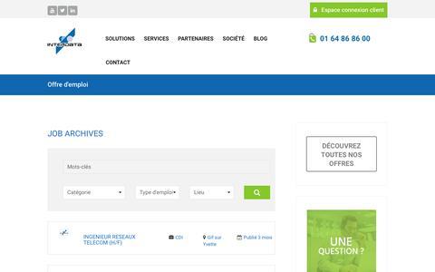 Screenshot of Jobs Page interdata.fr - Emplois – Interdata - captured May 27, 2017