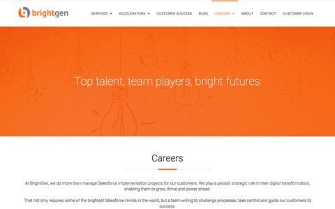 Screenshot of Jobs Page brightgen.com - Brightgen Careers | Brightgen - captured July 30, 2016