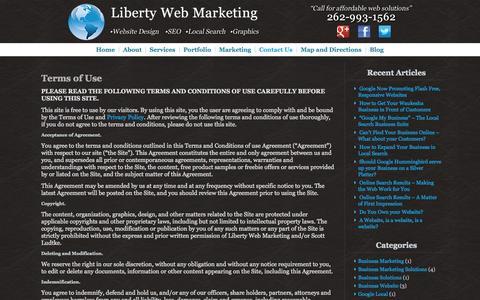 Screenshot of Terms Page libertywebmarketingandseo.com - Contact Us | Liberty Web Marketing - captured Oct. 2, 2014