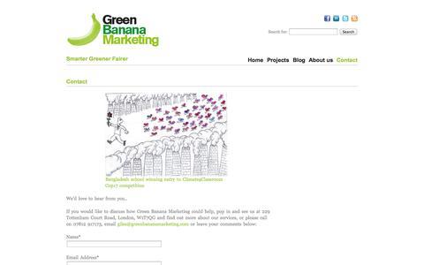 Contact «  Green Banana Marketing