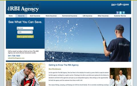Screenshot of About Page therbiagency.com - About The RBI Agency - captured Oct. 9, 2014