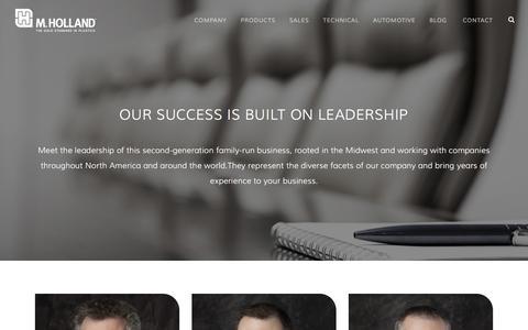 Screenshot of Team Page mholland.com - M. Holland Company Leadership   Plastic Distribution - captured Sept. 30, 2016